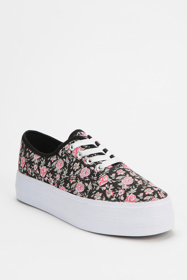 bdg floral canvas platform sneaker from outfitters