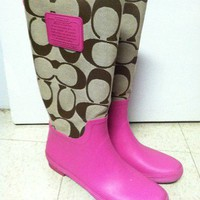 Coach Paige Rain Boots P...