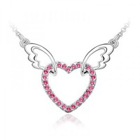 Love Heart of My Angel Necklace with SWAROVSKI ELEMENTS Design