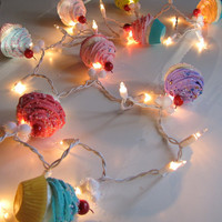 Fake Cupcake Cupcake Lovers String of Lights