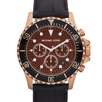 Michael Kors Everest Chronograph Watch, Black - Michael Kors