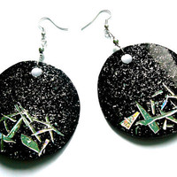 Disco earrings CD & recycled plastic bottle by dekoprojects