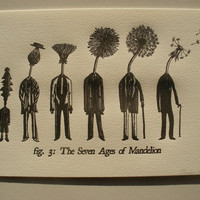 $24.27 A4 Letterpress Print The Seven Ages of Mandelion  by JonTurner