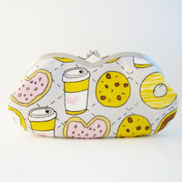 Frame Sunglasses Case/ Eyeglass Pouch/ Clutch Purse -cookie and milk