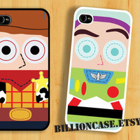 Buzz &amp; Woody Case Toy Story Movie Parody -  iPhone 5 4 / 4s Galaxy Case Hard Plastic Case Rubber Case