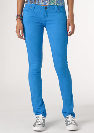 dELiAs &gt; Britt Low-Rise Skinny Color Jean Electric Blue &gt;