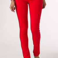 dELiAs > Britt Low-Rise Skinny Color Jean Red >