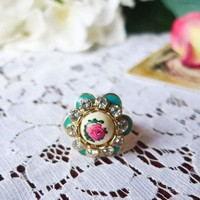 Vintage Style rose Garden Ring - Accessory - Retro, Indie and Unique Fashion