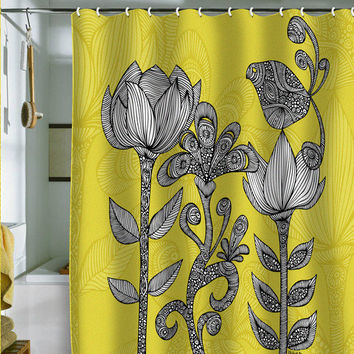 Valentina Ramos Green Garden Shower Curtain