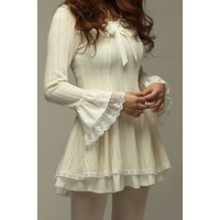 NextEve.com: 2012 spring bell sleeve bow decorated dress  2A231 2A231