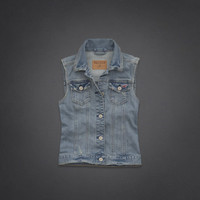 El Porto Beach Denim Vest
