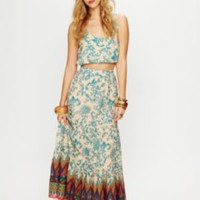 Sunrise Printed Maxi Skirt at Free People Clothing Boutique
