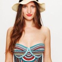 Free People Embroidered Bustier Top at Free People Clothing Boutique