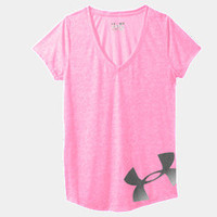 Women's UA Achieve Big Logo V-Neck | 1235990 | Under Armour US