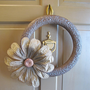 Spring wreath big flower for your door by UnusuallyYours on Etsy
