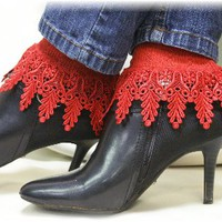 SLC2 Red Signature Lace Socks