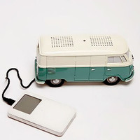 Zumreed VW Type II Bus Clock Radio IPOD/MP3 Stereo Speaker Green Ivory