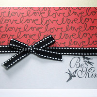 Handmade Valentine Card Be Mine by MissTanDesigns on Etsy