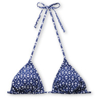Obey Navy Ikat Anchor Triangle Bikini Top