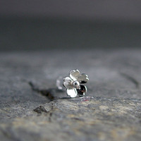 Cherry Blossom Tragus Earring Silver Cherry Blossom by HapaGirls