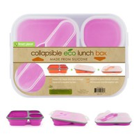 Amazon.com: Smart Planet EC-34 Large 3-Compartment Eco Silicone Collapsible Lunch Box, Pink: Kitchen & Dining