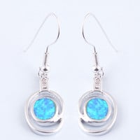 Blue 925 Silver Zircon Drop Earrings at Online Jewelry Store Gofavor