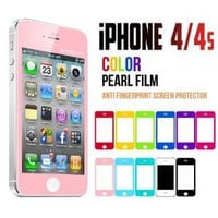 Amazon.com: Mercury Color Screen Protector for Apple iPhone 4 (Pink): Cell Phones & Accessories