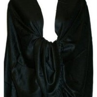 Amazon.com: New Best Soft 100% Pashmina shawl wrap Scarf, Black: Clothing