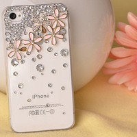 Skin Flowers Crystal Iphone 4/4s Cases