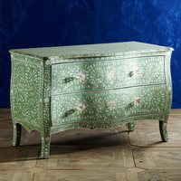 Mother-of-Pearl Serpentine Chest - Mint | Rare Birds | Wisteria