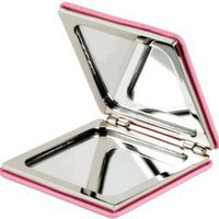 Visol Pink Leather Square Pocket Mirror
