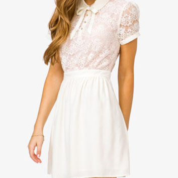 Contrast Lace Dress