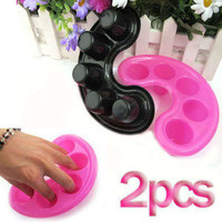 2x Manicure Bowl Soak Finger Acrylic Tip Nail Soaker Treatment Remover Bowl Tool