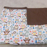 Woodland Baby Blanket, Owl Baby Blanket, Woodland Nursery Blanket, Woodland Creature Blanket, Woodland Baby Bedding