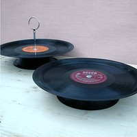 vinyl record cake plate by vinyl village | notonthehighstreet.com