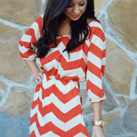 I Meant What I Said Dress: Orange | Hope&#x27;s
