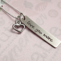 Love You More Personalized Necklace - Hand Stamped Sterling Silver