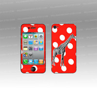 iPhone 5 4 4s Skin -Hanging High-Giraffe-decal sticker