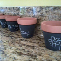 Mini Chalkboard Planter  set of 3 by WannaChalk on Etsy