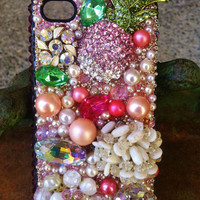 ON SALE Beautiful, unique blinged out iPhone 4/4s cover