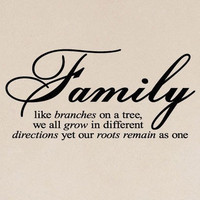 Family like branches on a tree vinyl wall by madebytheresarenee