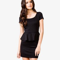 Scoop Neck Peplum Dress