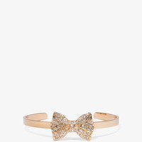 Rhinestone Bow Cuff