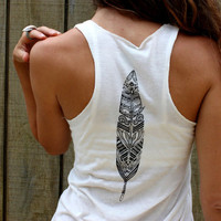 Feather and Wanderlust  Ecofriendly Ivory flowy by EnterTheSun
