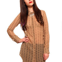 GYPSY WARRIOR - Polka Dot Tunic Blouse