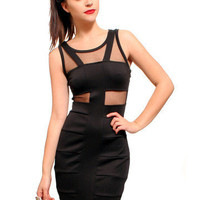 GYPSY WARRIOR - Mesh Bandage Mini Dress