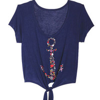 dELiAs &gt; Floral Anchor Tee &gt; clothes &gt; tops &gt; view all tops