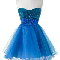 dELiAs &gt; Blue Sequin Tulle &gt; clothes &gt; dresses &gt; solid