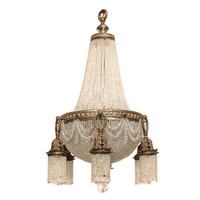 1STDIBS.COM - Antiquario - Large French Style Bronze and Crystal Chandelier