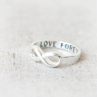 Love Forever Infinity Ring in silver by laonato on Etsy